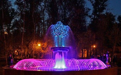 фотография фонтана Плачущая липа в Липецке