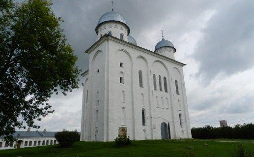 фотография Георгиевского собора в Старой Ладоге