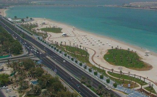 вид сверху на Корниш в Абу-Даби фотография