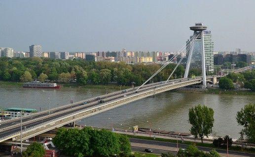 Новый мост в Братиславе фото