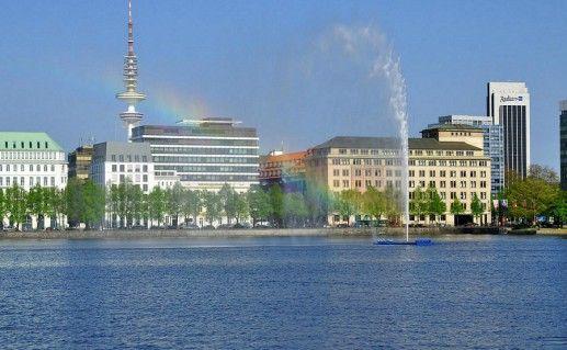 фото озера Альстер в Гамбурге