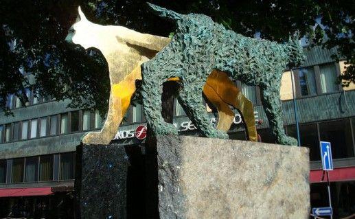 фото парка скульптур на улице Кескускату в Котке