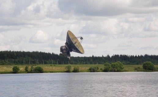 фотография радиотелескопа РТ64 в Калязине