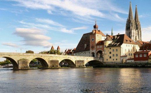 фотография Старого города в Регенсбурге в Баварии