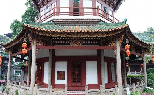 фото входа в Храм шести смоковниц в Гуанчжоу
