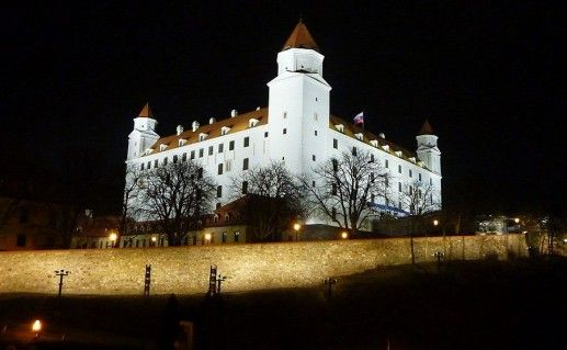 фотография вида на Братиславский Град