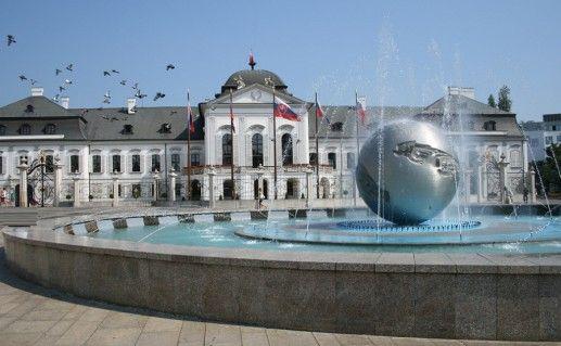 фотография дворца Грассалковичей в Братиславе