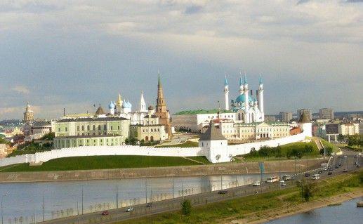 фото вида на Казанский Кремль в  Татарстане