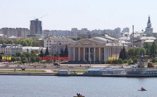 фотография вида на Красную площадь в Чебоксарах