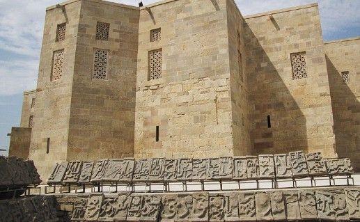вид на дворец Ширваншахов в Баку фотография