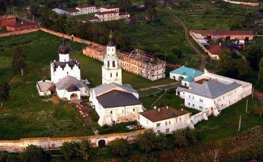 фотография вида сверху на остров-град Свияжск в Татарстане