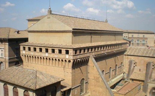 фотография Сикстинской Капеллы в Ватикане