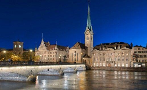 фотография вида на Фраумюнстер в Цюрихе