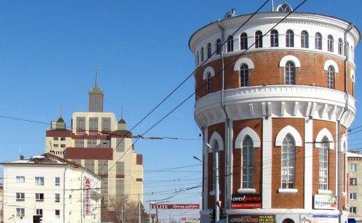 фотография водонапорной башни в Оренбурге