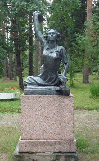 памятник Раймонде Дьен в Зеленогорске фото