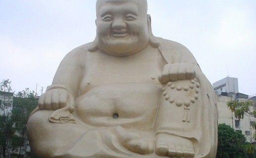 Фотография статуи спящего Будды