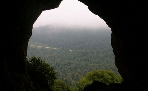 Фотография из пещеры Лагонаки