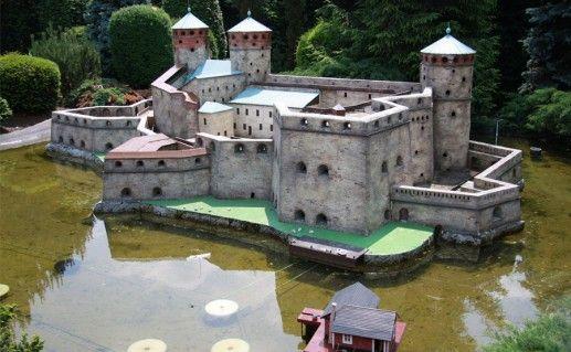 вид на крепость Олавинлинна фото
