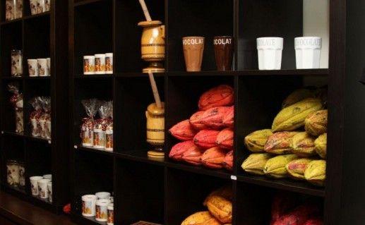 фото экспонатов музея шоколада в Праге