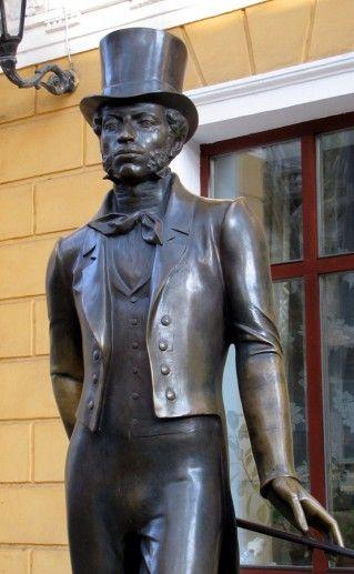 фото памятника Пушкину на Пушкинской в Одессе