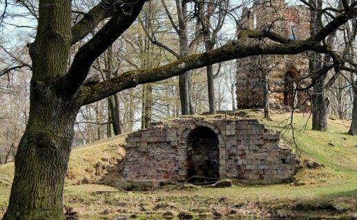 фото руин в Орловском парке в Стрельне