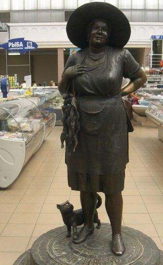 фотография скульптуры тети Сони