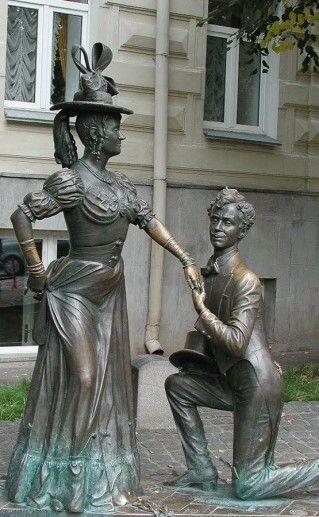 киевская скульптура За двумя зайцами фото