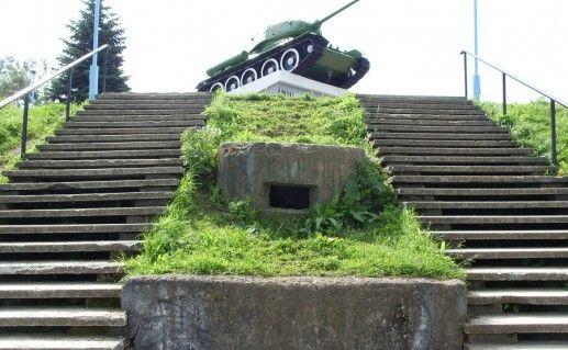 фотография ступеней в Великолукскую Крепость