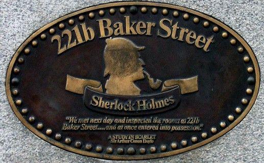 вывеска на музее Шерлока Холмса в Лондоне фото