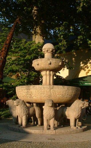 фонтан у познаньского Императорского замка фотография