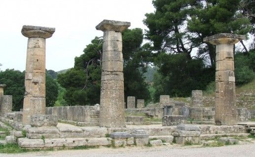 фото храма Геры в Олимпии