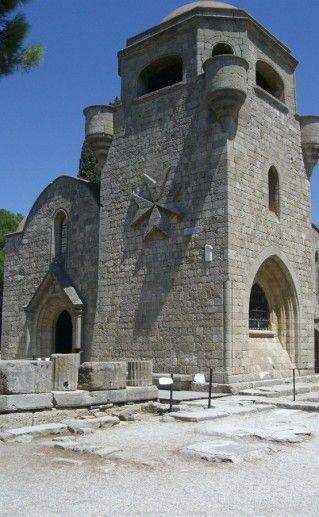 монастырь в заповеднике Филеримос на Родосе фотография