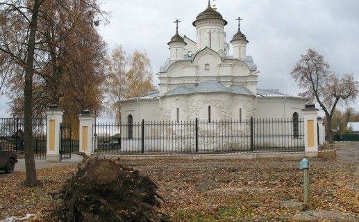 фотография вида на церковь Иоанна Предтечи на Городище