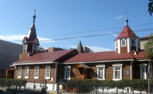 фотография вида на новосибирскую церковь Пресвятой Богородицы