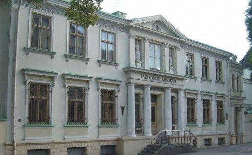 вид на клайпедский музей часов фотография