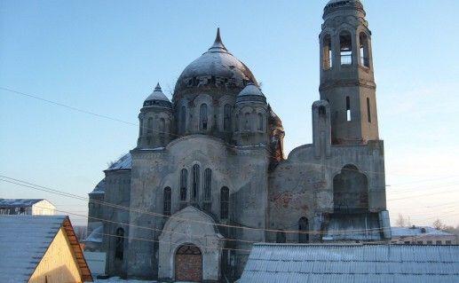 вид на старообрядческий Покровский собор в Боровске фото