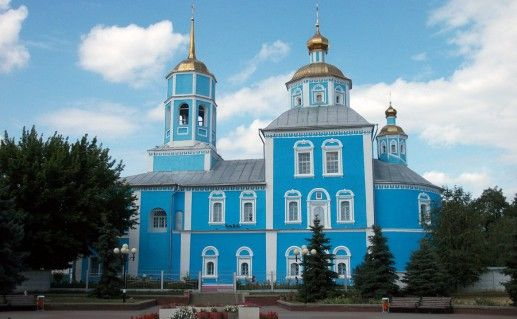 вид на Смоленский собор в Белгороде фото