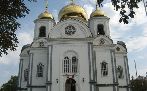 фото вида на собор Алесандра Невского в Краснодаре