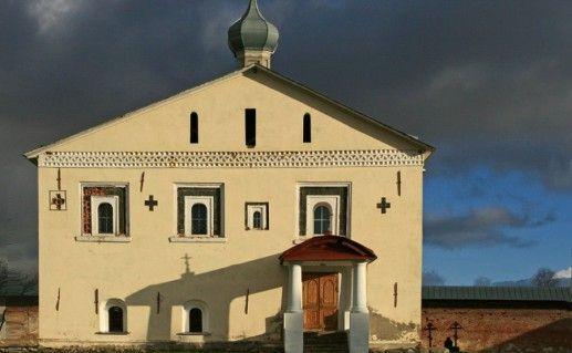 фотография вида на Зеленецкий Троицкий монастырь в Ленинградской области