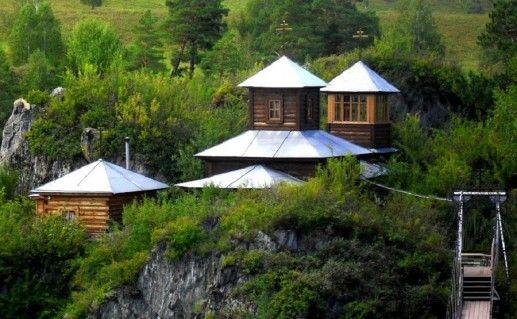Храм на острове Патмос Горный Алтай фотография