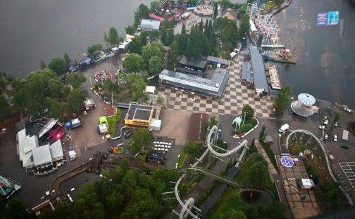 фото вида сверху на комплекс-парк Сярканниеми в Тампере