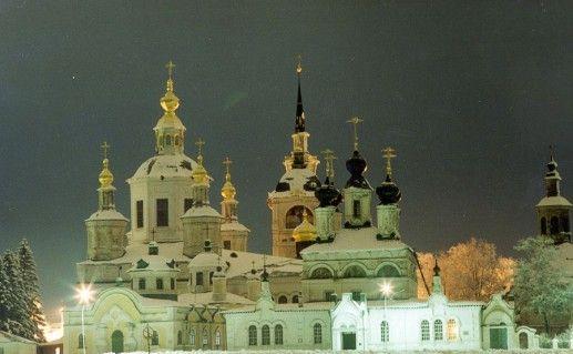 ночной вид на великоустюгский Михайло-Архангельский монастырь фото