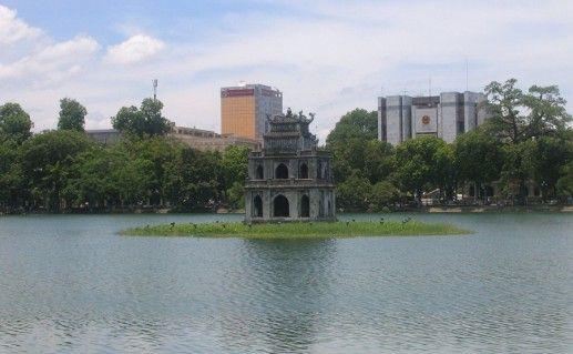озеро Хоан Кием в Ханое фотография