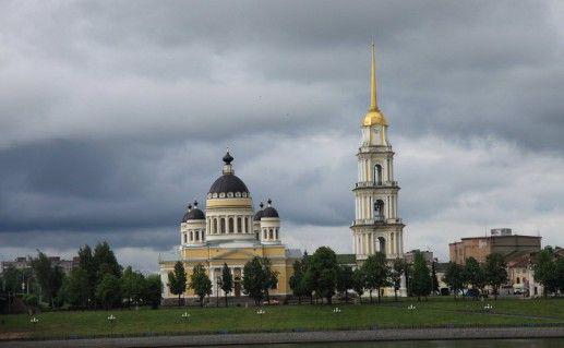 фотография вида на Спасо-Преображенский собор в Рыбинске
