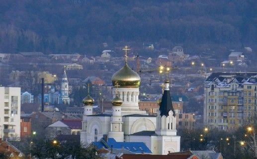 фото вида на Кафедральный собор Георгия Победоносца Владикавказ