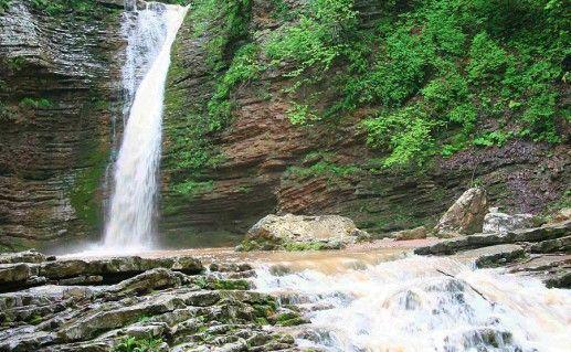 фотография адыгейского водопада Руфабго