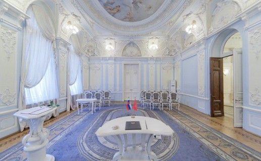 фотография зала регистрации в петербургском Дворце Бракосочетаний №2