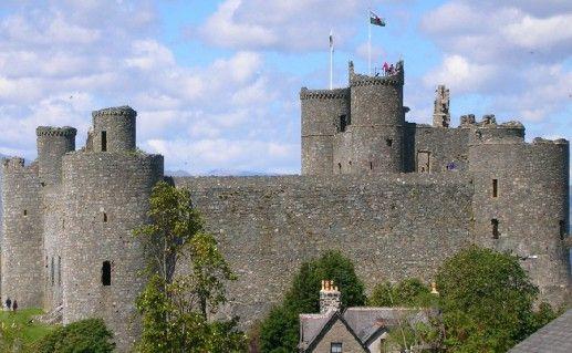 фото замка Харлех в Англии