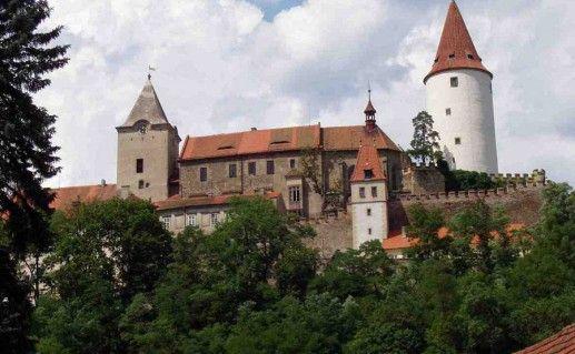 замок Кривоклат в Чехии фотография