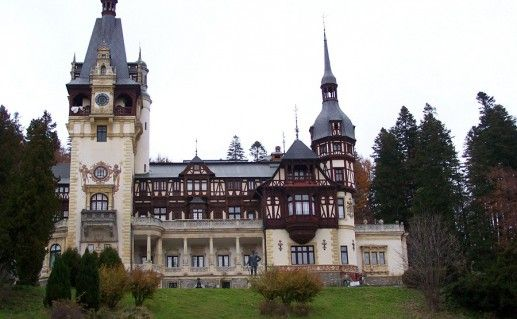 фотография замка Пелеш в Румынии